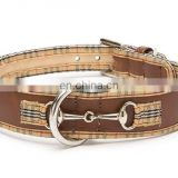 Leather large dog collars and leashes