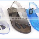 Clear Women Plastic Jelly Shoe Sandal