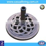 Hot Sell 17.7 Inch Diameter Cast Iron Umbrella Base Parts