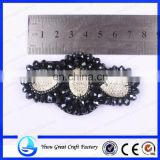 Manufacturers selling fashion plastic shoes black butterfly type shoes flower nail bead handmade beaded shoe accessories