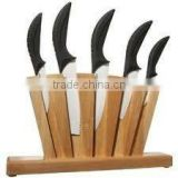 ceramic knife set with block