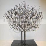 shiny metal tree sculpture for decoration