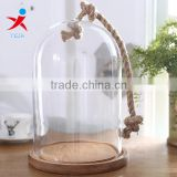 "Small Size 5.5""(dia.14cm) Dome Glass With Coarse Twine Carrying"