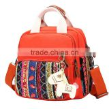 wholesale red color women's backpack with zipper