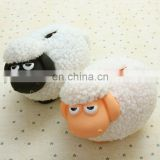 little lamb money box coin bank, custom made white sheep coin bank, making plastic coin bank money box for little sheep