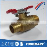 "Trade assurance 3/4"" butterfly handle forged brass male ball valve for heater system"