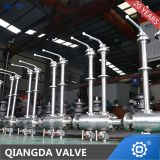 High temperature metal seat trunnion mounted cryogenic ball valve