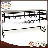 Hot sale wrought iron black jewelry organizer