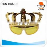 Best quality promotional free sample white party sunglasses