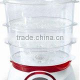 3 layers keep warm electrical food steamer with flavour booster