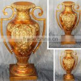 MV-5300-01 Antique gold vase with ears in different sizes