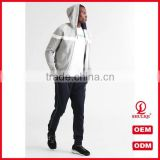 shuliqi custom blank skinny tracksuit wholesale men sports gym tracksuit set with contrast panel