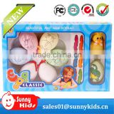 watercolor painting plastic easter eggs packing