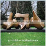 Bronze Modern Abstract Henry Moore Vertebrae sculpture for garden decoration