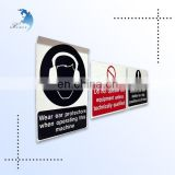 high quality customized warning self adhesive label