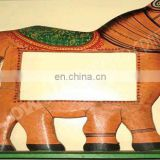 PAINTED HORSE DESIGN WOODEN PHOTO FRAME