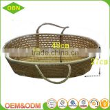 Wholesale China 100% handmade eco-friendly maize baby mose basket with handles