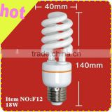 11w-36w 12mm half spiral energy saving lamp(8000hrs)