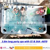 Luxury 12 persons hot tubs A870 outdoor massage bathtub for weekend party with spa cover