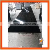 High Polished edges Black Granite Panels 38x38 one piece for stove