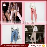 Fashion High Rise Straight Leg casual Pant