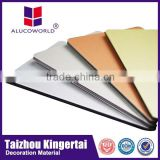 Alucoworld Offering Quality Plastic 4x8 acp sheet raw material Aluminum Composite Panel cork walls panels