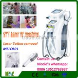 2016 MSLOL01i 4 in nd yag laser tattoo removal OPT SHR Permanent hair removal, shr ipl machine