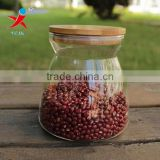 Healty Borosilicate Glass Jar With Bamboo Lid