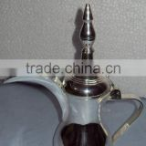 Silver plated arabian coffee pot, Dalla Ruslan, Arab coffee pot, Dalla Ratlan