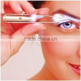 Light Eyelash Removal Tweezer Clip Make Up Led Eyebrow Hair Beauty Tool
