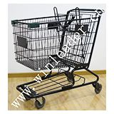 American style supermarket 160L shopping cart trolley for sale