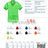 HOT SALES CUSTOM FASHIONABLE Short SLEEVES MEN'S SHIRT EMBROIDERY AND PRINTING LOGO