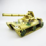 New arrival tank brass plated custom resin figure
