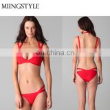 Custom factory price Swimwear Bikini Apparel One-piece women bandage sexy mature bikini