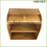 Bamboo Roll Top Kitchen Vintage Bread Box Homex BSCI/Factory