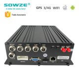 4ch 1080p IP HD Car NVR: HDD, 3G, 4G, GPS, WIFI supported