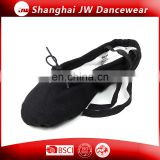 Black Canvas Split Sole Ballet Dance Shoes for kids and adult