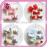 5pcs kid baby cute hair clip accessories flower barrette