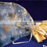 2016 personalized spraying organza fabric for christmas holiday decoration