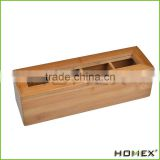 Direct Factory Price 4 Slot Bamboo Wood Tea Storage Box/Homex_Factory