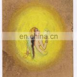 Water Color Painting Indian Miniature Nude Women Art Wall Hanging Handmade Paper Painting