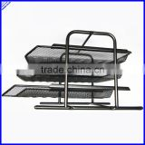 3 layer A4 size black sturday office trays,metal mesh file tray,stationery tray