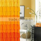 Polyester printed hotel <b>yellow</b> <b>shower</b> <b>curtain</b>