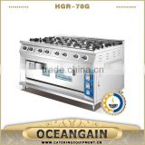 HGR-78G 8 burner Commercial Gas Cooker with Gas Oven                                                                         Quality Choice                                                     Most Popular