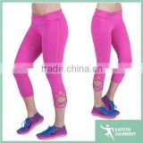 Slimming style scrunchy waist crossing straps on the bottom of each leg 4 way stretching bodybuilding fitness yogo leggings