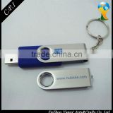 Hot-selling swivel <b>USB</b> flash <b>drive</b>s with <b>keyring</b>