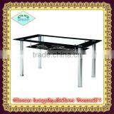 high quality modern design cheaper glass dining table
