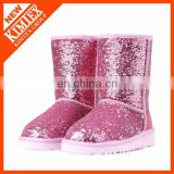 no slip full glitter half snow boots for girl