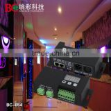 BC-854 Support RJ 45 port DC12-24V 4 Channels rgbw dmx512 decoder