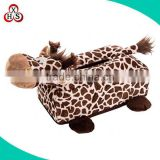 custom animal plush tissue box cover